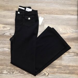 Nine West Black Night High Rise Flare Jeans 10 NWT